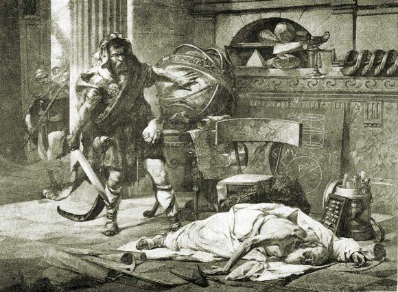 «Muerte de Arquímedes», Edouard Vimont.