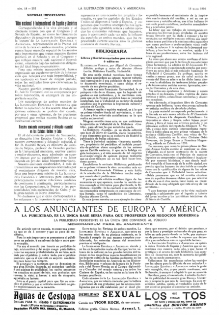 Última página del número 18 de La ilustración española y americana, de hace justo una año. Llaman la atención los anuncios al pie. Fuente: Hemeroteca de la Biblioteca Nacional de España.