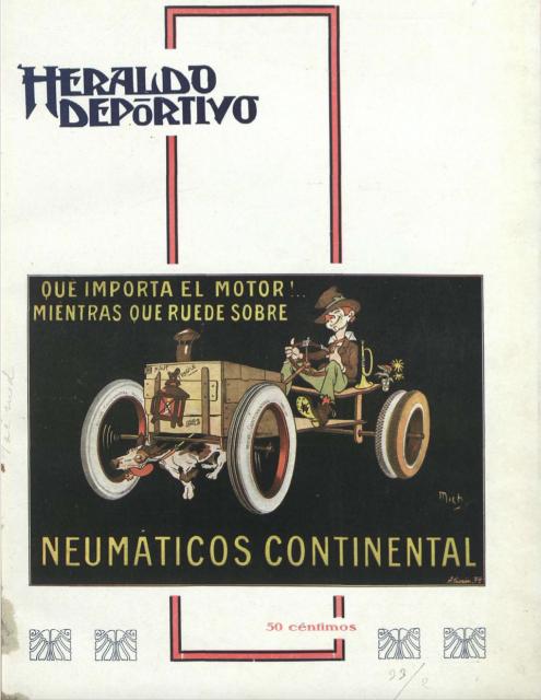 Portada del primer número de Heraldo deportivo. Fuente: Hemeroteca de la Biblioteca Nacional de España.