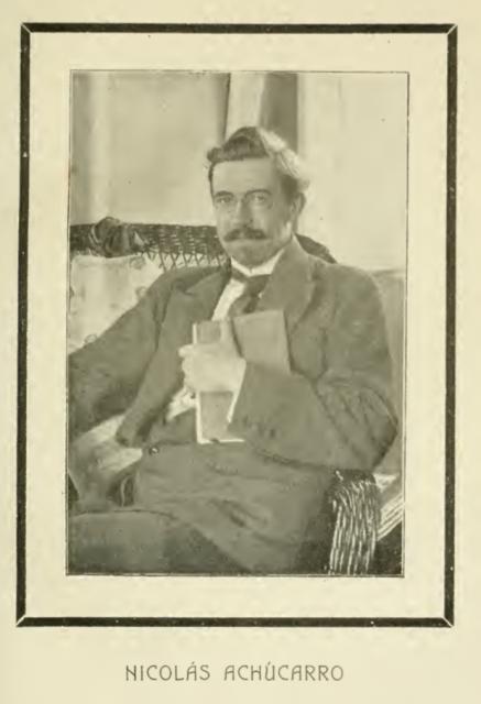 Fotografía de Nicolás Achúcarro en el Boletín de la Sociedad Española de Biología a modo de obituario. Tomo VII, 1919.