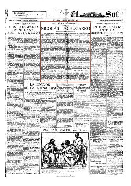 El Sol (Madrid. 1917). 26-4-1918