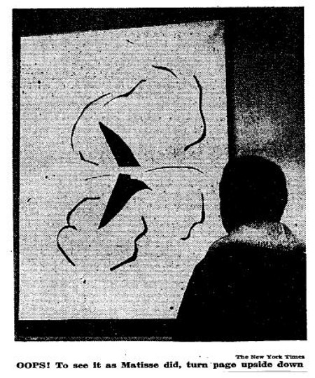 Robertson, Nan. Modern Museum Is Startled by Matisse Picture The New York Times, December 5, 1961.