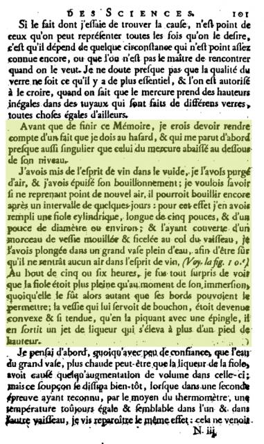 El primer texto donde se hace referencia a la ósmosis, sin usar aún el término en cuestión. Nollet, 1748.