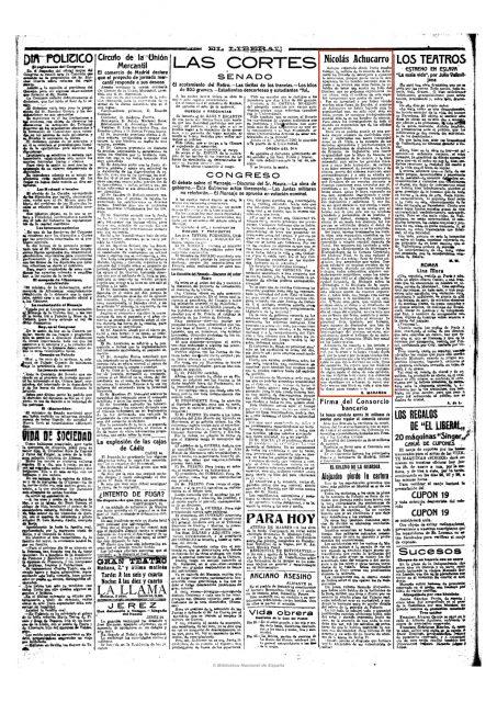 El Liberal (Madrid. 1879). 25-4-1918